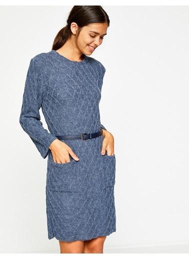 Koton Uzun Kollu Triko Elbise